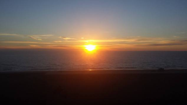 roma mare tramonto