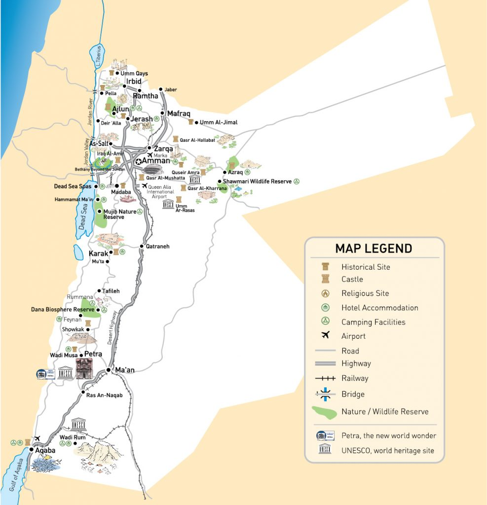 giordania mappa