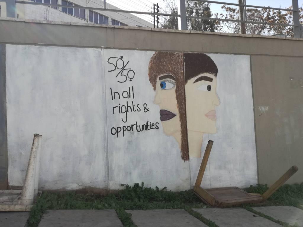 street art rainbow street