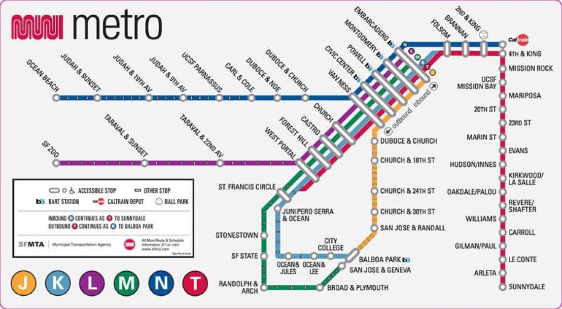muni metro mappa