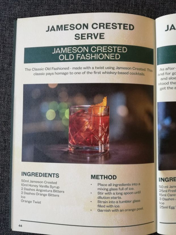jameson whiskey old fashioned