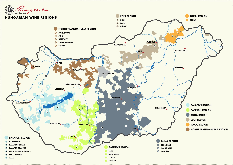 regioni vino ungheria