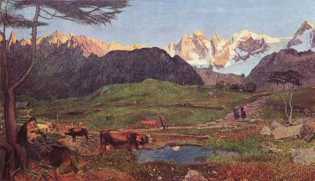 giovanni segantini trittico delle alpi